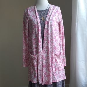LulaRoe Caroline cardigan-pink floral extra soft